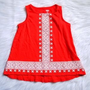 🌹Old Navy Red Graphic Tank Size XS 5❤